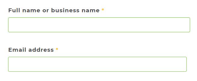 Full name Email